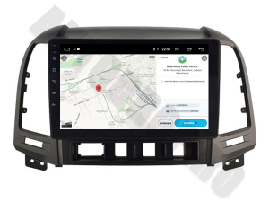 NAVIGATIE Hyundai Santa Fe 2006-2012, ANDROID 9.1, QUADCORE MTK / 1GB RAM + 16GB ROM, 9 INCH - AD-BGPSANTAFEMTK1GB8