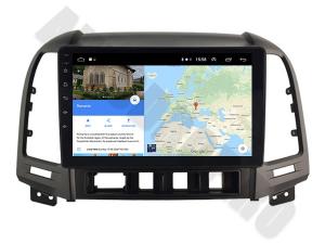 NAVIGATIE Hyundai Santa Fe 2006-2012, ANDROID 9.1, QUADCORE MTK / 1GB RAM + 16GB ROM, 9 INCH - AD-BGPSANTAFEMTK1GB9