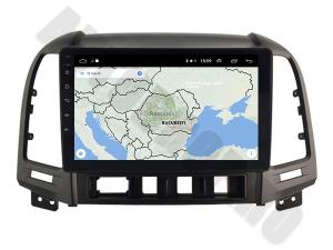 NAVIGATIE Hyundai Santa Fe 2006-2012, ANDROID 9.1, QUADCORE MTK / 1GB RAM + 16GB ROM, 9 INCH - AD-BGPSANTAFEMTK1GB10