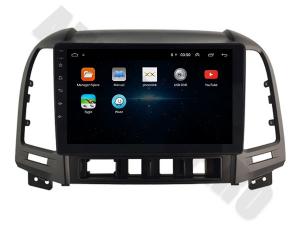 NAVIGATIE Hyundai Santa Fe 2006-2012, ANDROID 9.1, QUADCORE MTK / 1GB RAM + 16GB ROM, 9 INCH - AD-BGPSANTAFEMTK1GB3