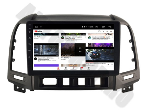 NAVIGATIE Hyundai Santa Fe 2006-2012, ANDROID 9.1, QUADCORE MTK / 1GB RAM + 16GB ROM, 9 INCH - AD-BGPSANTAFEMTK1GB6