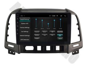 NAVIGATIE Hyundai Santa Fe 2006-2012, ANDROID 9.1, QUADCORE MTK / 1GB RAM + 16GB ROM, 9 INCH - AD-BGPSANTAFEMTK1GB4