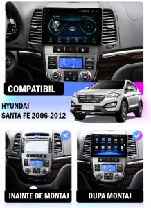 NAVIGATIE Hyundai Santa Fe 2006-2012, ANDROID 9.1, QUADCORE MTK / 1GB RAM + 16GB ROM, 9 INCH - AD-BGPSANTAFEMTK1GB14