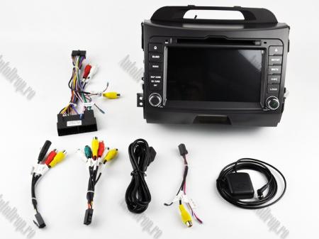 NAVIGATIE Kia Sportage 2010-2012, ANDROID 10, Octacore|PX5|/ 4GB RAM + 64GB ROM cu DVD, 7 Inch - AD-BGWKIASA1P515