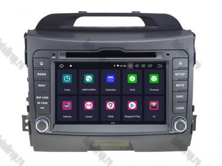 NAVIGATIE Kia Sportage 2010-2012, ANDROID 10, Quadcore|PX30|/ 2GB RAM + 16GB ROM cu DVD, 7 Inch - AD-BGWKIASA1P32