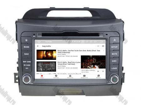NAVIGATIE Kia Sportage 2010-2012, ANDROID 10, Quadcore|PX30|/ 2GB RAM + 16GB ROM cu DVD, 7 Inch - AD-BGWKIASA1P310