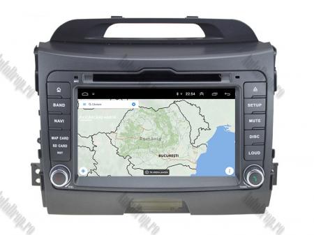 NAVIGATIE Kia Sportage 2010-2012, ANDROID 10, Quadcore|PX30|/ 2GB RAM + 16GB ROM cu DVD, 7 Inch - AD-BGWKIASA1P312