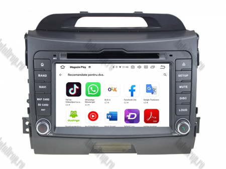 NAVIGATIE Kia Sportage 2010-2012, ANDROID 10, Octacore|PX5|/ 4GB RAM + 64GB ROM cu DVD, 7 Inch - AD-BGWKIASA1P57