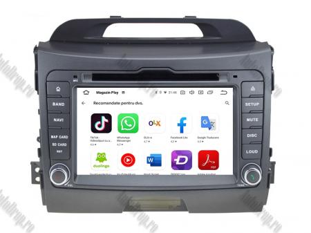 NAVIGATIE Kia Sportage 2010-2012, ANDROID 10, Quadcore|PX30|/ 2GB RAM + 16GB ROM cu DVD, 7 Inch - AD-BGWKIASA1P37