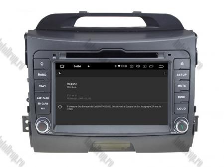 NAVIGATIE Kia Sportage 2010-2012, ANDROID 10, Quadcore|PX30|/ 2GB RAM + 16GB ROM cu DVD, 7 Inch - AD-BGWKIASA1P314