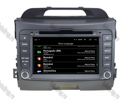 NAVIGATIE Kia Sportage 2010-2012, ANDROID 10, Quadcore|PX30|/ 2GB RAM + 16GB ROM cu DVD, 7 Inch - AD-BGWKIASA1P38