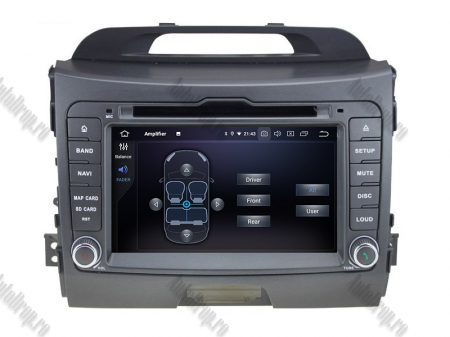 NAVIGATIE Kia Sportage 2010-2012, ANDROID 10, Quadcore|PX30|/ 2GB RAM + 16GB ROM cu DVD, 7 Inch - AD-BGWKIASA1P36