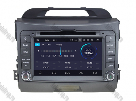NAVIGATIE Kia Sportage 2010-2012, ANDROID 10, Quadcore|PX30|/ 2GB RAM + 16GB ROM cu DVD, 7 Inch - AD-BGWKIASA1P33