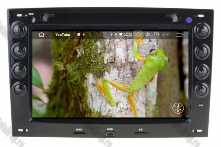 NAVIGATIE Megane 2, ANDROID 9, Octacore|PX5|/ 4GB RAM + 64GB ROM cu DVD, 7 Inch - AD-BGWMG2P59
