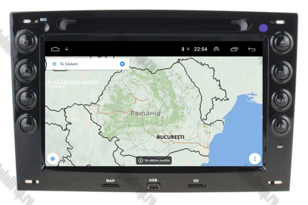 NAVIGATIE Megane 2, ANDROID 9, Octacore|PX5|/ 4GB RAM + 64GB ROM cu DVD, 7 Inch - AD-BGWMG2P511