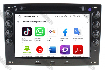 NAVIGATIE Megane 2, ANDROID 9, Octacore|PX5|/ 4GB RAM + 64GB ROM cu DVD, 7 Inch - AD-BGWMG2P58