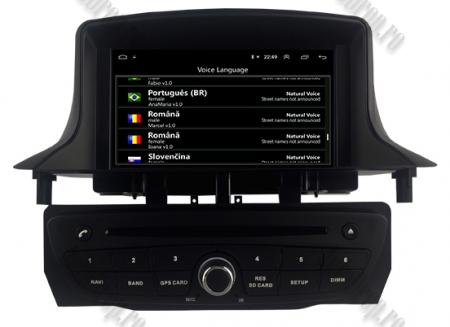 NAVIGATIE Megane 3, ANDROID 9, Quadcore|PX30|/ 2GB RAM + 16GB ROM cu DVD, 7 Inch - AD-BGWMG3P3-B8