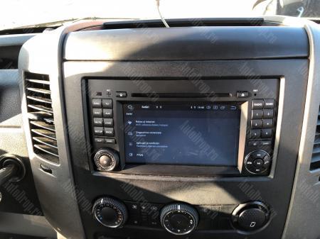 Navigatie Mercedes Benz/VW A/B-Class Vito Viano Sprinter Crafter, Android 10, QUADCORE|PX30|/ 2GB RAM + 16GB ROM cu DVD, 7 Inch - AD-BGWMBSPR7P325