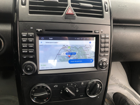 Navigatie Mercedes Benz/VW A/B-Class Vito Viano Sprinter Crafter, Android 10, Octacore|PX5|/ 4GB RAM + 64GB ROM cu DVD, 7 Inch - AD-BGWMBSPR7P522