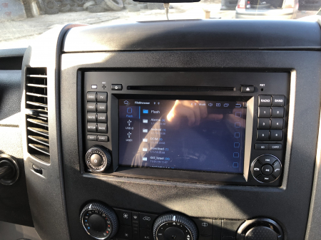 Navigatie Mercedes Benz/VW A/B-Class Vito Viano Sprinter Crafter, Android 10, Octacore|PX5|/ 4GB RAM + 64GB ROM cu DVD, 7 Inch - AD-BGWMBSPR7P528