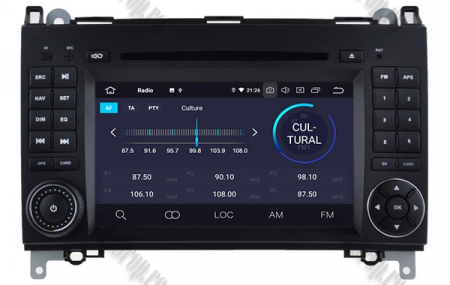 Navigatie Mercedes Benz/VW A/B-Class Vito Viano Sprinter Crafter, Android 10, Octacore|PX5|/ 4GB RAM + 64GB ROM cu DVD, 7 Inch - AD-BGWMBSPR7P53