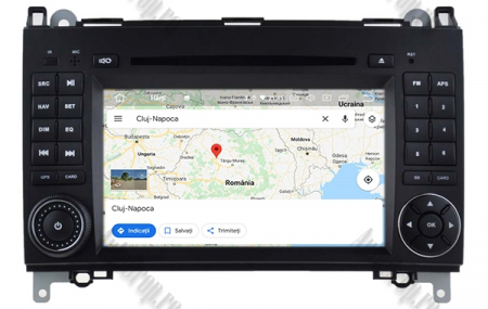 Navigatie Mercedes Benz/VW A/B-Class Vito Viano Sprinter Crafter, Android 10, Octacore|PX5|/ 4GB RAM + 64GB ROM cu DVD, 7 Inch - AD-BGWMBSPR7P514