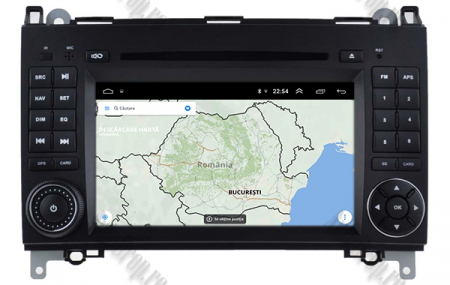 Navigatie Mercedes Benz/VW A/B-Class Vito Viano Sprinter Crafter, Android 10, Octacore|PX5|/ 4GB RAM + 64GB ROM cu DVD, 7 Inch - AD-BGWMBSPR7P513