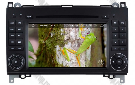 Navigatie Mercedes Benz/VW A/B-Class Vito Viano Sprinter Crafter, Android 10, Octacore|PX5|/ 4GB RAM + 64GB ROM cu DVD, 7 Inch - AD-BGWMBSPR7P511