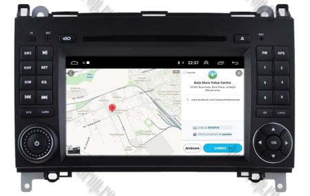 Navigatie Mercedes Benz/VW A/B-Class Vito Viano Sprinter Crafter, Android 10, Octacore|PX5|/ 4GB RAM + 64GB ROM cu DVD, 7 Inch - AD-BGWMBSPR7P512