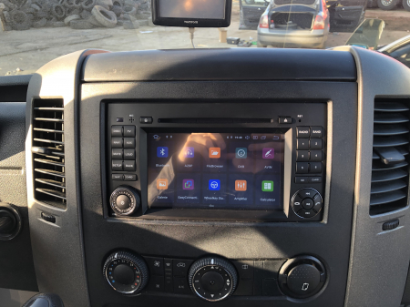 Navigatie Mercedes Benz/VW A/B-Class Vito Viano Sprinter Crafter, Android 10, Octacore|PX5|/ 4GB RAM + 64GB ROM cu DVD, 7 Inch - AD-BGWMBSPR7P527