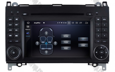 Navigatie Mercedes Benz/VW A/B-Class Vito Viano Sprinter Crafter, Android 10, Octacore|PX5|/ 4GB RAM + 64GB ROM cu DVD, 7 Inch - AD-BGWMBSPR7P56