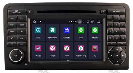 Navigatie Mercedes Benz ML W164/ GL X164, Android 9, Octacore|PX5|/ 4GB RAM + 64GB ROM cu DVD, 7 Inch - AD-BGWMBMGP51