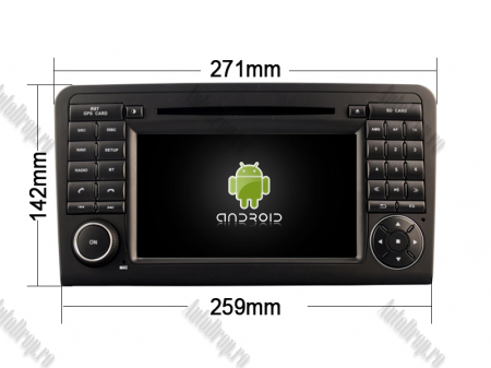 Navigatie Mercedes Benz ML W164/ GL X164, Android 9, Octacore|PX5|/ 4GB RAM + 64GB ROM cu DVD, 7 Inch - AD-BGWMBMGP519