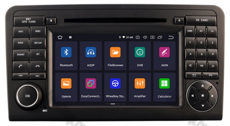 Navigatie Mercedes Benz ML W164/ GL X164, Android 9, Octacore|PX5|/ 4GB RAM + 64GB ROM cu DVD, 7 Inch - AD-BGWMBMGP52