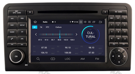 Navigatie Mercedes Benz ML W164/ GL X164, Android 9, Octacore|PX5|/ 4GB RAM + 64GB ROM cu DVD, 7 Inch - AD-BGWMBMGP53