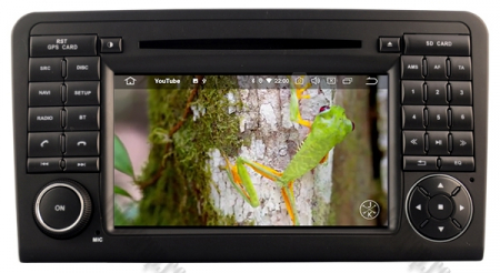 Navigatie Mercedes Benz ML W164/ GL X164, Android 9, Octacore|PX5|/ 4GB RAM + 64GB ROM cu DVD, 7 Inch - AD-BGWMBMGP510
