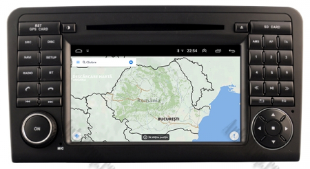 Navigatie Mercedes Benz ML W164/ GL X164, Android 9, Octacore|PX5|/ 4GB RAM + 64GB ROM cu DVD, 7 Inch - AD-BGWMBMGP513