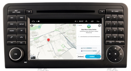 Navigatie Mercedes Benz ML W164/ GL X164, Android 9, Octacore|PX5|/ 4GB RAM + 64GB ROM cu DVD, 7 Inch - AD-BGWMBMGP515