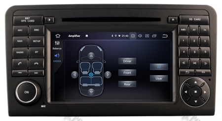 Navigatie Mercedes Benz ML W164/ GL X164, Android 9, Octacore|PX5|/ 4GB RAM + 64GB ROM cu DVD, 7 Inch - AD-BGWMBMGP57