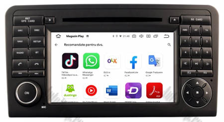 Navigatie Mercedes Benz ML W164/ GL X164, Android 9, Octacore|PX5|/ 4GB RAM + 64GB ROM cu DVD, 7 Inch - AD-BGWMBMGP512