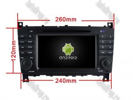 Navigatie Mercedes Benz C-Class W203/ CLC, Android 9, Octacore|PX5|/ 4GB RAM + 64GB ROM cu DVD, 7 Inch - AD-BGWMBCCM7P519