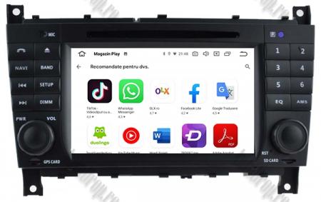 Navigatie Mercedes Benz C-Class W203/ CLC, Android 9, Octacore|PX5|/ 4GB RAM + 64GB ROM cu DVD, 7 Inch - AD-BGWMBCCM7P511