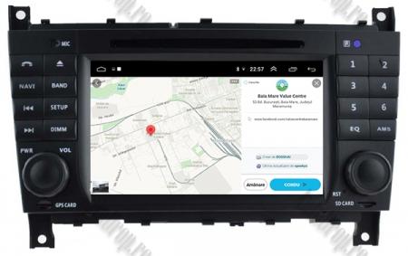 Navigatie Mercedes Benz C-Class W203/ CLC, Android 9, Octacore|PX5|/ 4GB RAM + 64GB ROM cu DVD, 7 Inch - AD-BGWMBCCM7P514