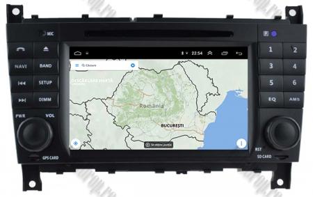 Navigatie Mercedes Benz C-Class W203/ CLC, Android 9, Octacore|PX5|/ 4GB RAM + 64GB ROM cu DVD, 7 Inch - AD-BGWMBCCM7P513