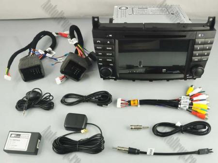 Navigatie Mercedes Benz C-Class W203/ CLC, Android 9, Octacore|PX5|/ 4GB RAM + 64GB ROM cu DVD, 7 Inch - AD-BGWMBCCM7P516