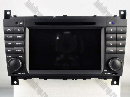 Navigatie Mercedes Benz C-Class W203/ CLC, Android 9, Octacore|PX5|/ 4GB RAM + 64GB ROM cu DVD, 7 Inch - AD-BGWMBCCM7P517