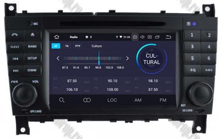 Navigatie Mercedes Benz C-Class W203/ CLC, Android 9, Octacore|PX5|/ 4GB RAM + 64GB ROM cu DVD, 7 Inch - AD-BGWMBCCM7P54