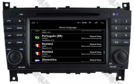 Navigatie Mercedes Benz C-Class W203/ CLC, Android 9, Octacore|PX5|/ 4GB RAM + 64GB ROM cu DVD, 7 Inch - AD-BGWMBCCM7P58