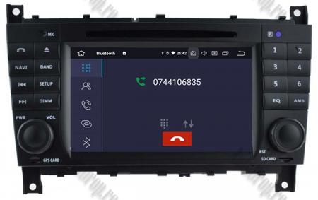 Navigatie Mercedes Benz C-Class W203/ CLC, Android 9, Octacore|PX5|/ 4GB RAM + 64GB ROM cu DVD, 7 Inch - AD-BGWMBCCM7P53
