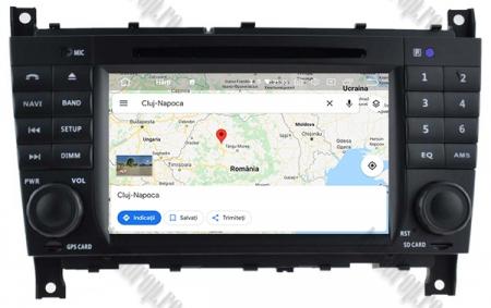 Navigatie Mercedes Benz C-Class W203/ CLC, Android 9, Octacore|PX5|/ 4GB RAM + 64GB ROM cu DVD, 7 Inch - AD-BGWMBCCM7P515